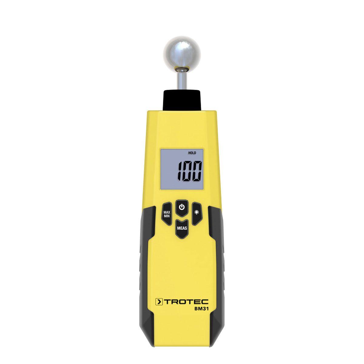 Feuchtemessgerät, BM31, gelb/schwarz, 0-100 Digit, 5-40 mm