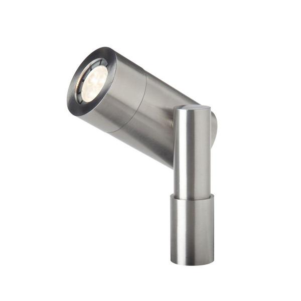Spot Nova 3, Edelstahl, warm weiss, 12 V, 3 W, 115 x 81 x 77 mm