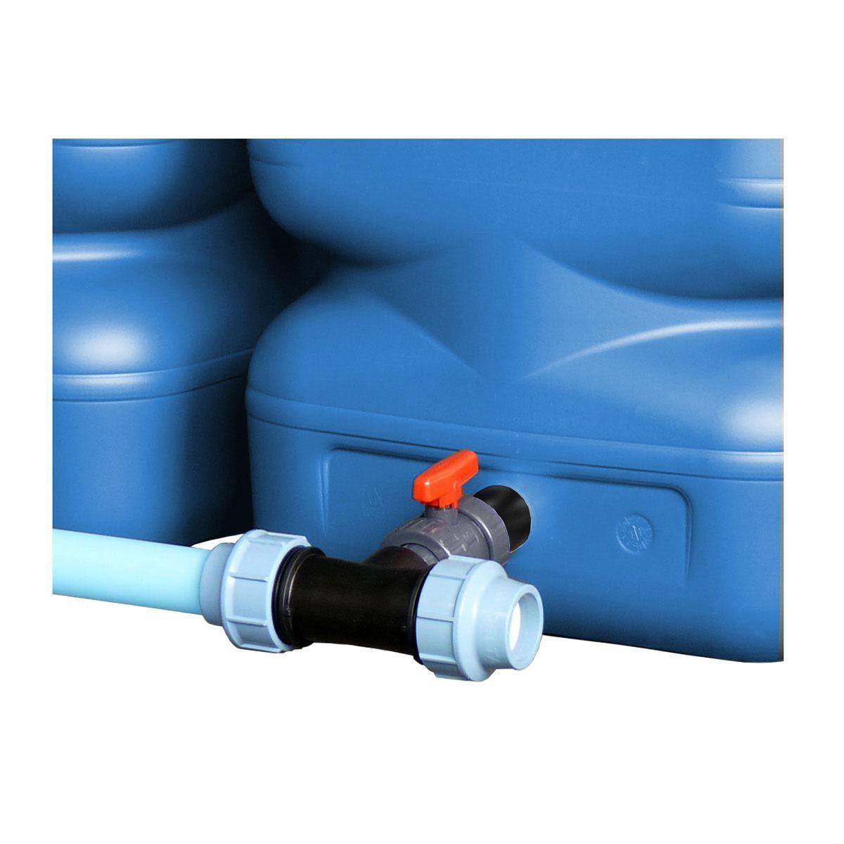 Erweiterungs-Verbindungs-Set DN 50, inkl. PVC Hahn, PE Rohr, PP Fitting, 1 1/2', DN 50