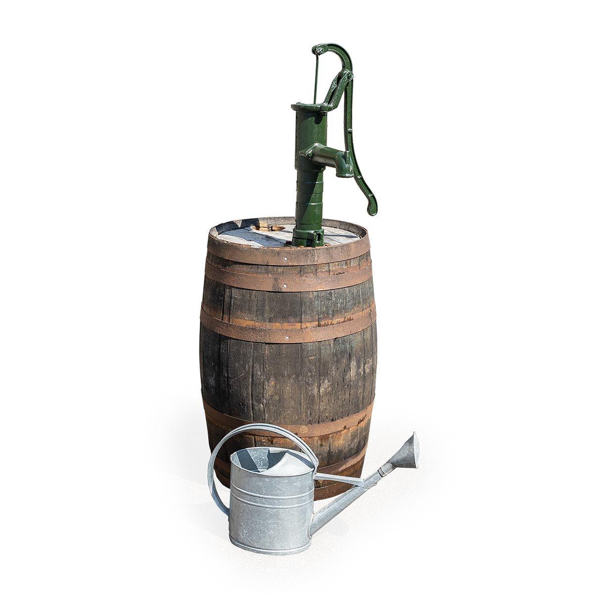 Fût à whisky avec pompe rotative à main