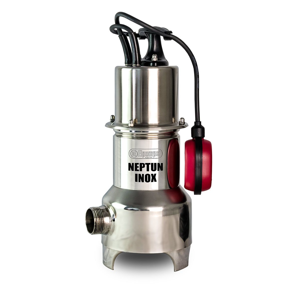 Schmutzwasserpumpe NEPTUN INOX, H max 9.0 m, Q max 15000 l/h, 0.8 kW, 200 x 165 x 380 mm, 1 1/4' AG, 230 V