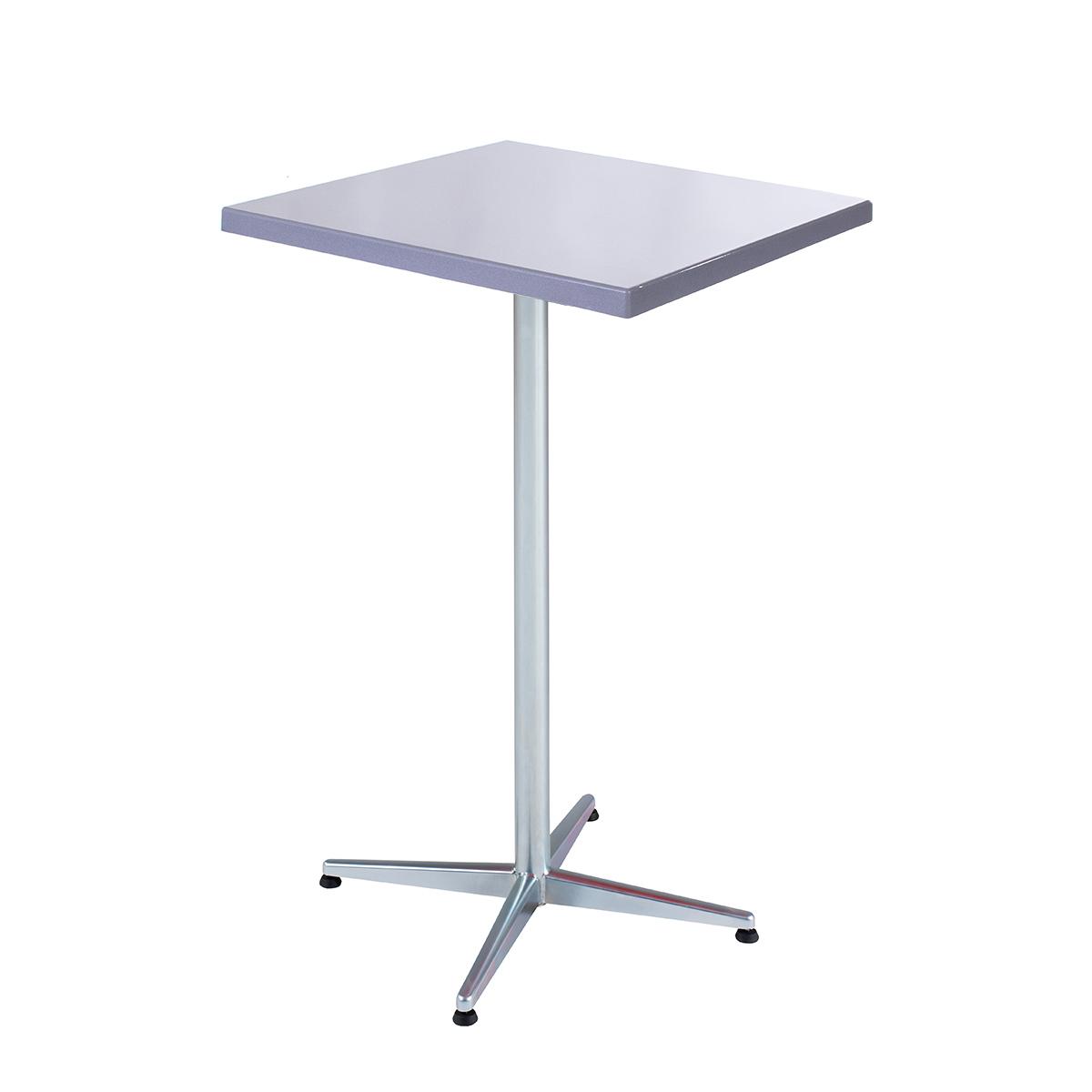 GFK Tisch silber 70x70
