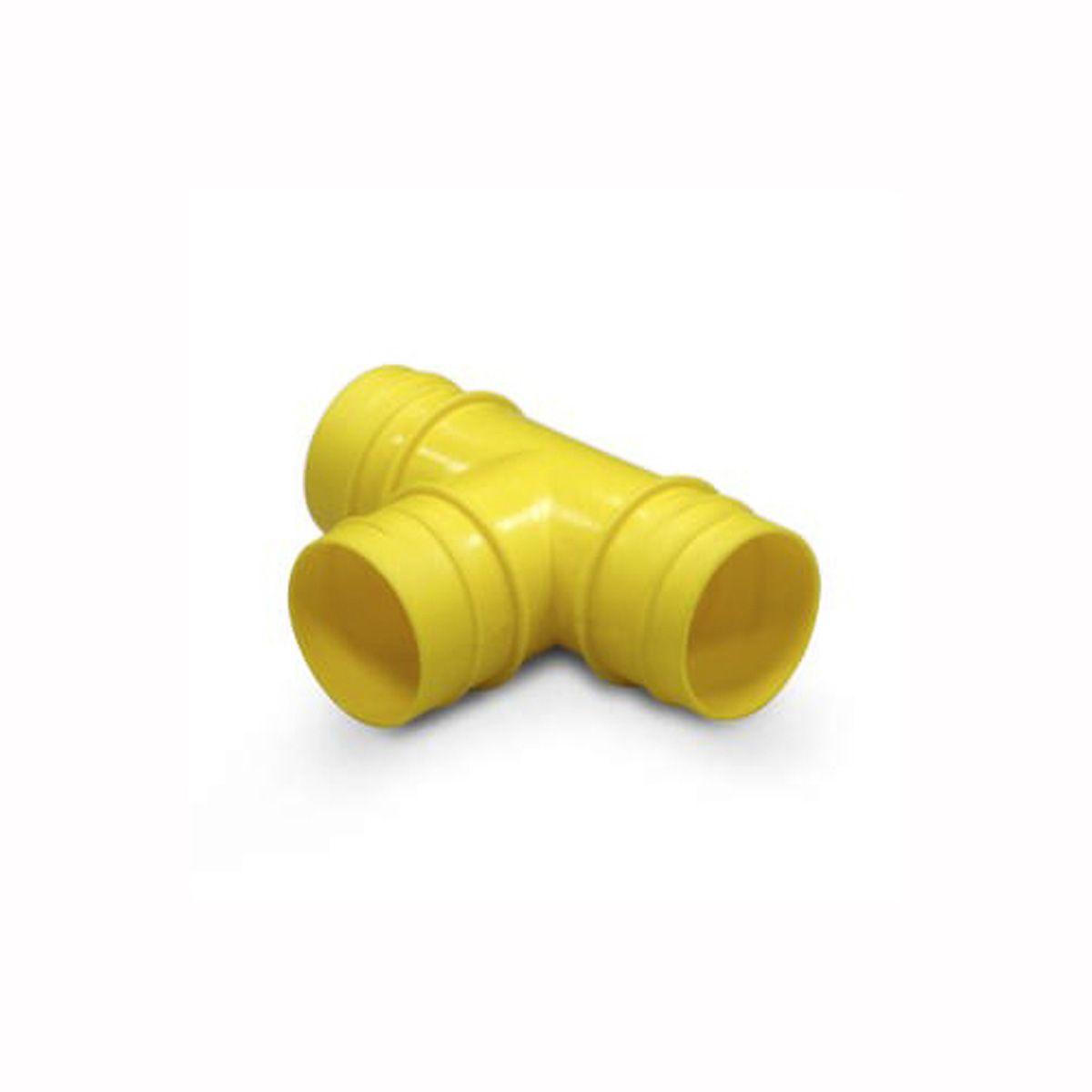 T-Verteiler mit Aussengewinde, aus PVC, gelb,