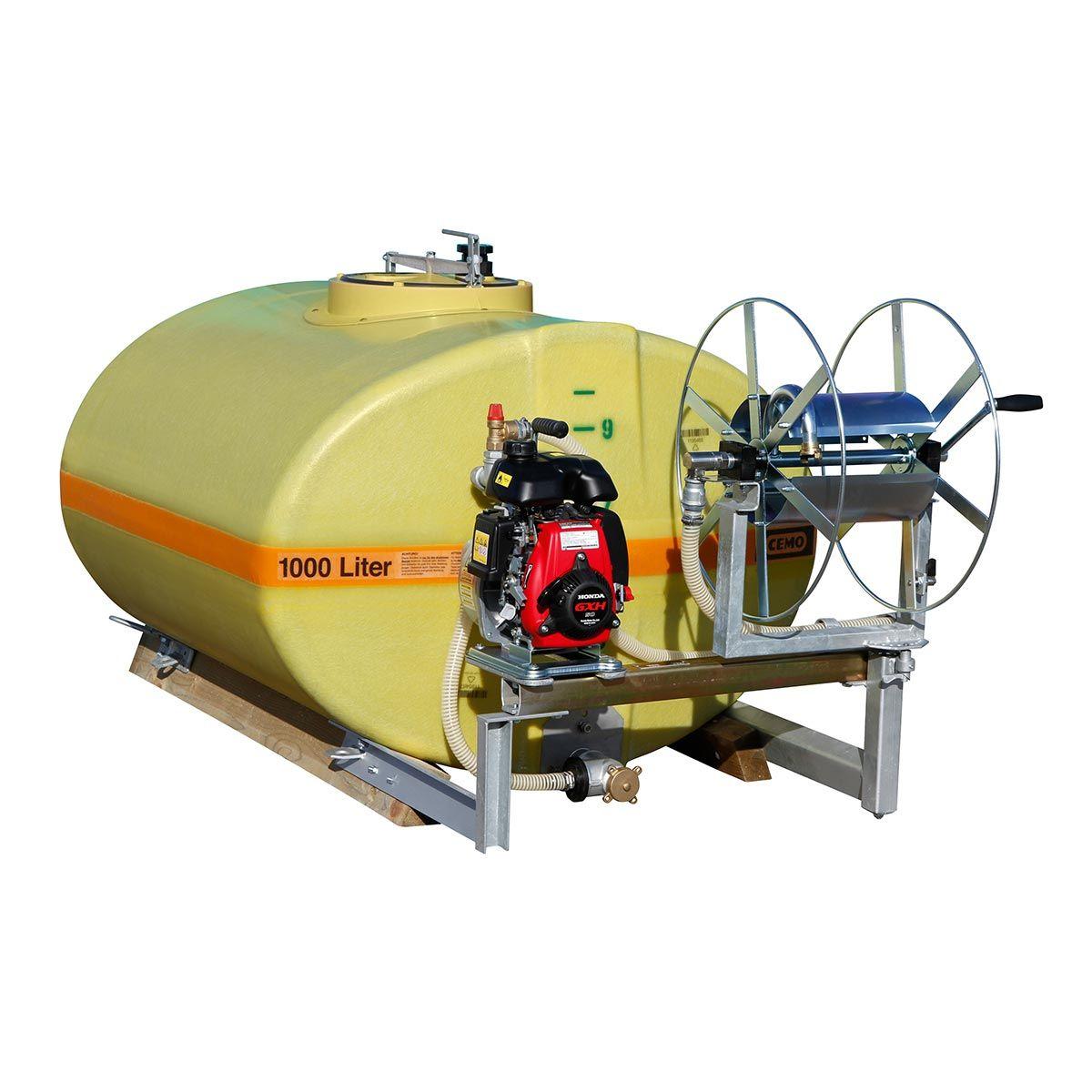 Mobiles Bewässerungssystem, aus GFK, gelb, 600 l, 2070 x 920 x 960 mm