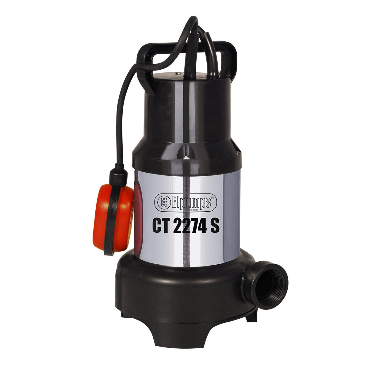Abwasserpumpe CT 2274 S, H max 6.0 m, Q max 9000 l/h, 0.45 kW, 160 x 190 x 325 mm, 1 1/4' IG, 230 V