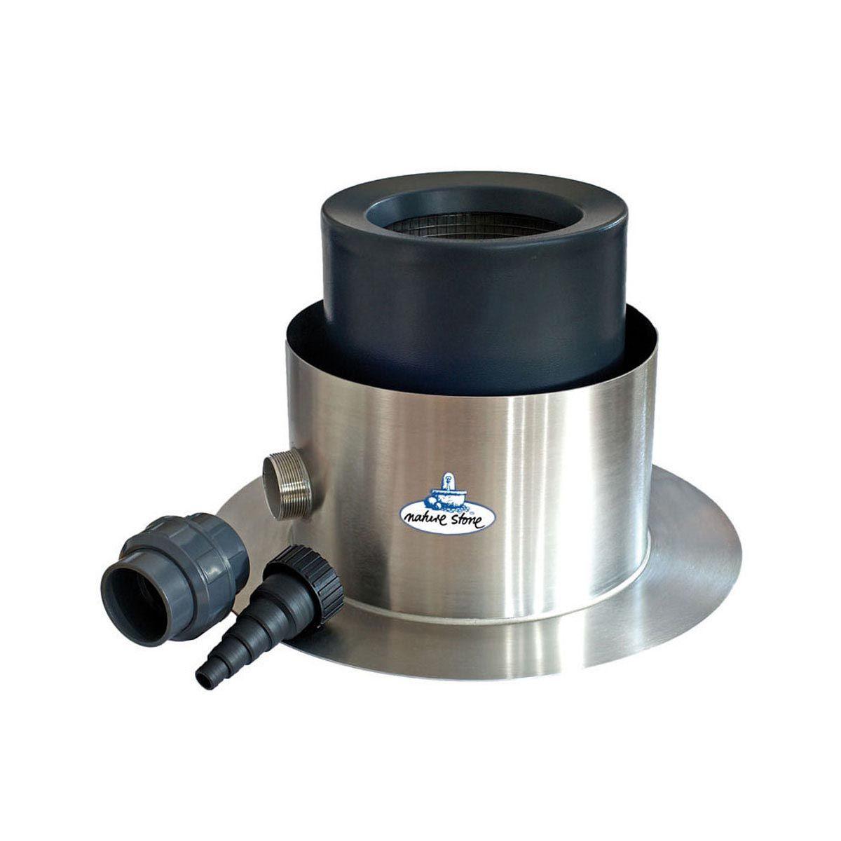 Skimmer, aus Inox, 490 x 320-470 mm, 2' AG
