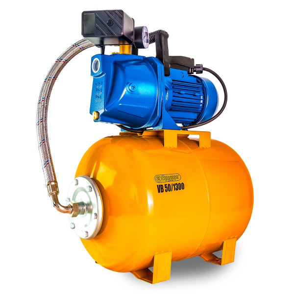 Hauswasserwerk VB 50/1300, H max 47.0 m, Q max 5400 l/h, 1.3 kW, 605 x 365 x 650 mm, 1' IG, 230 V