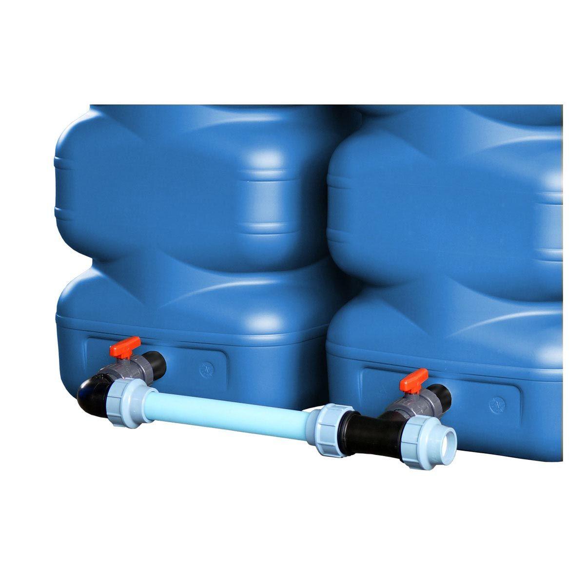 Verbindungs-Set DN 50, inkl. PVC Hahn, PE Rohr, PP Fitting, 1 1/2', DN 50
