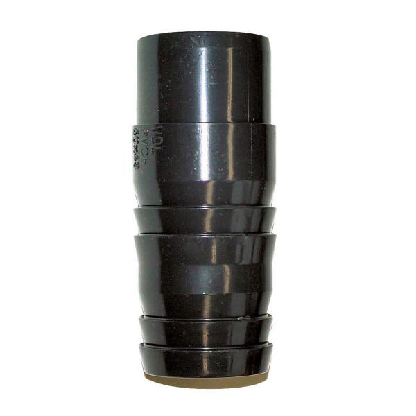 Druckschlauchtülle zum Kleben, aus PVC, grau, d 16 x 16 mm