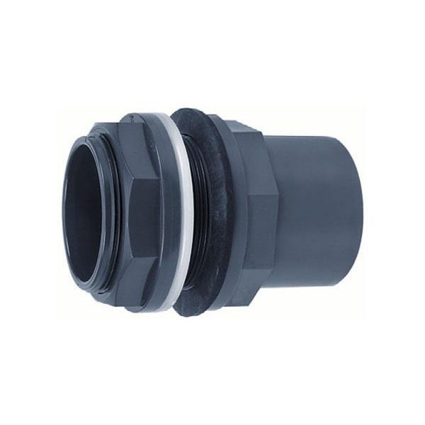 Tankdurchführung, aus PVC, grau, D 20 x 25 mm, 3/4' AG
