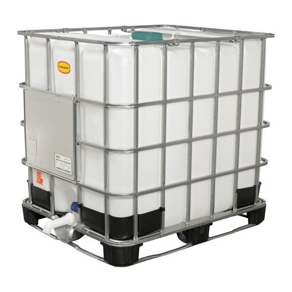 IBC-Container, aus PE-HD, weiss, 1000 l, 1200 x 1000 x 1165 mm