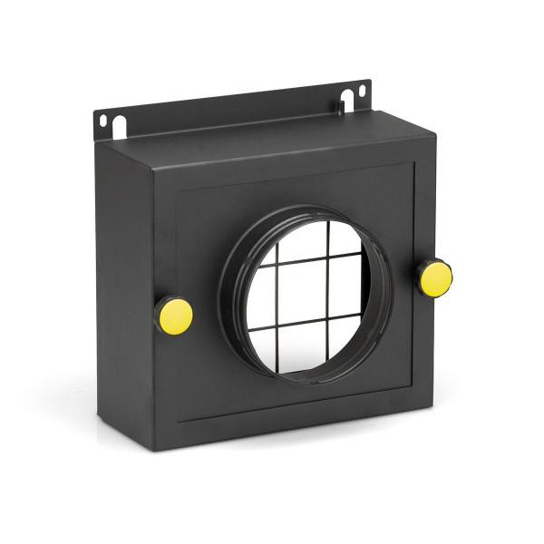 Filterbox Prozessluft-Eintritt, zu TTR 200, aus Metall schwarz, D 80 mm