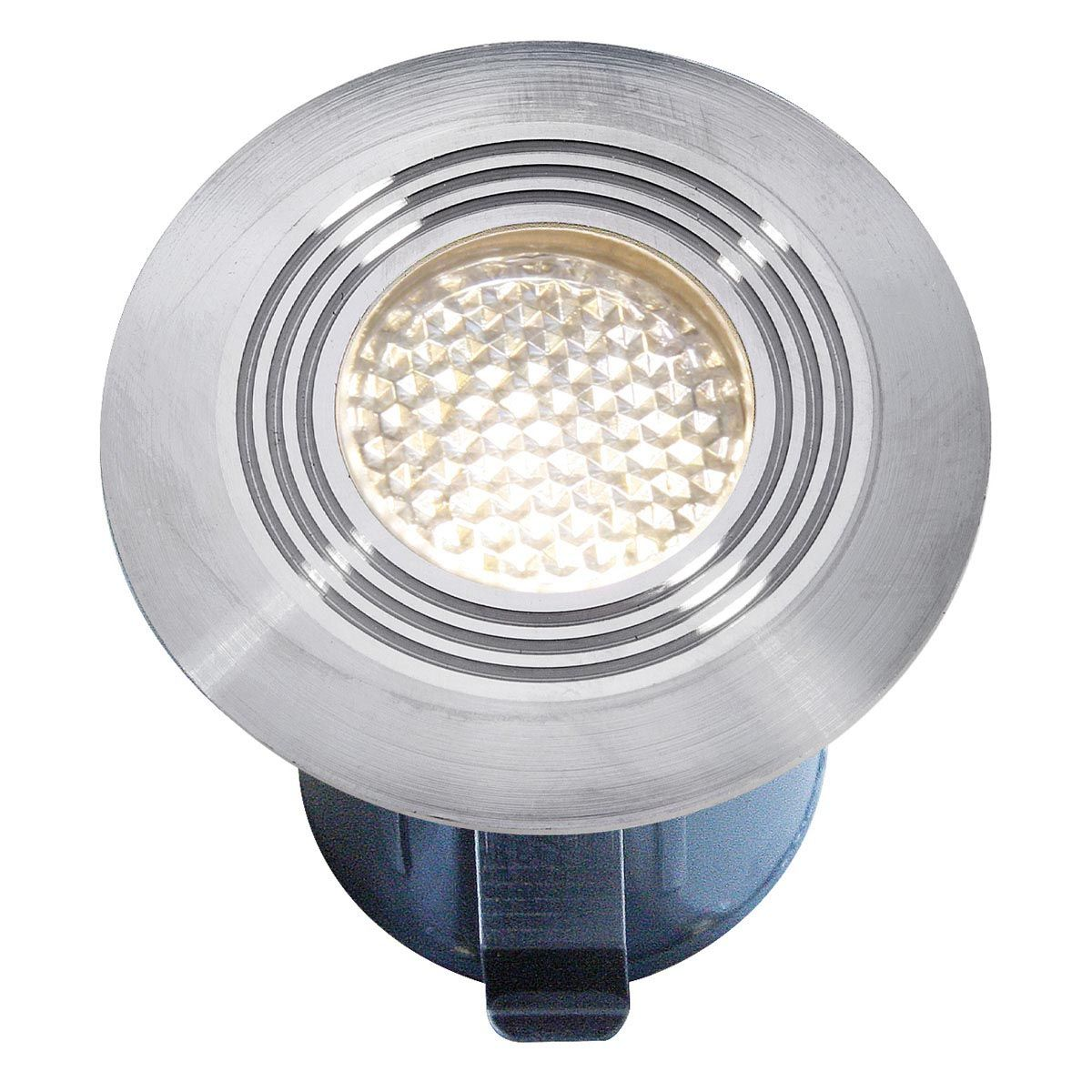 Einbauleuchte Onyx 30 R1, aus Edelstahl, warm weiss, 12 V, 0.5 W, 45 x 41 mm (DxH)