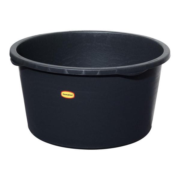 Rundbecken, aus PE, schwarz, 90 l, D 660 x 350 mm