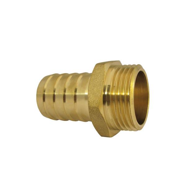 Schlauchverschraubung AG, aus Messing, mit Sechskant, d 10 mm, 3/8' AG
