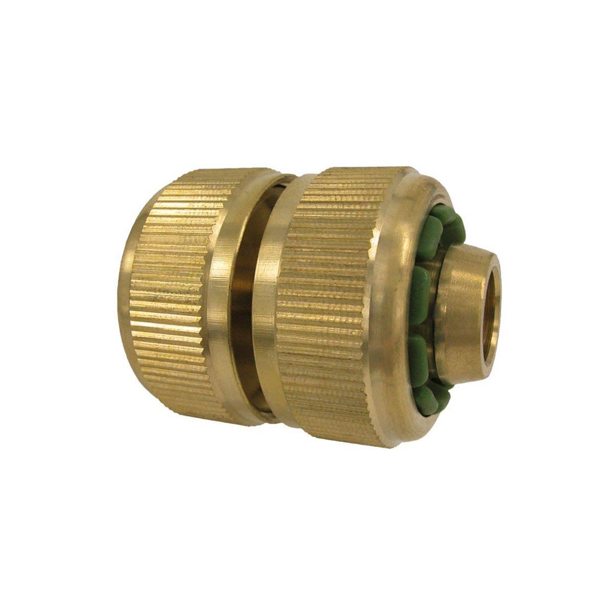 Schlauchverbinder, aus Messing, 1/2' LW 13 mm, 5/8' LW 16 mm