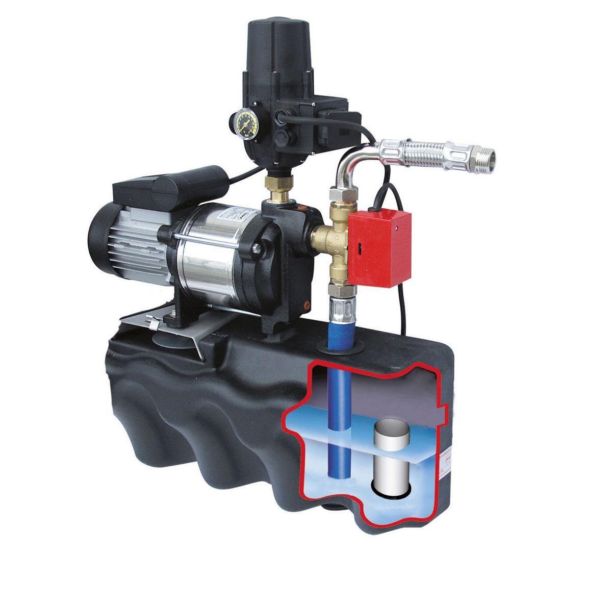 Trinkwasser-Nachspeisekonsole, verzinkt, 206 x 649 x 759 mm, 3.5 bar, 3600 l/h