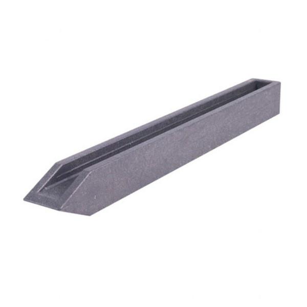 Teich-Pfahl, aus Recycling-Kunststoff, grau, 38 cm x 40 x 40 mm