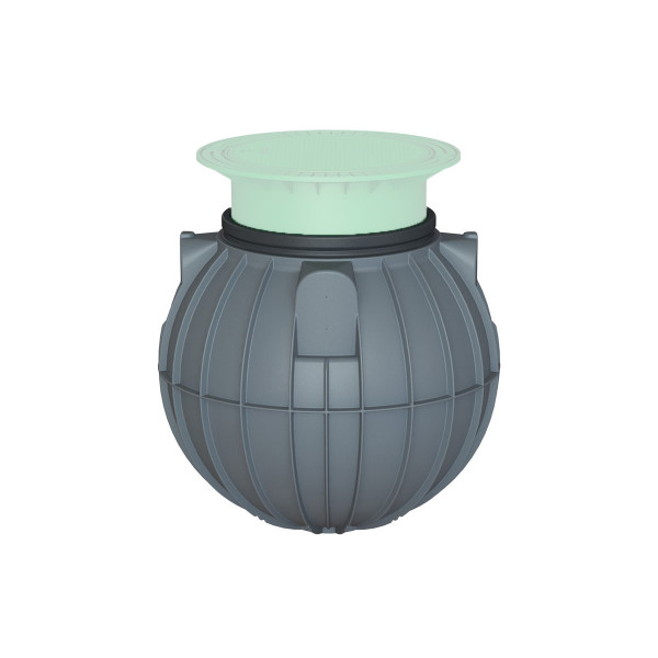 Universaltank Saphir, aus PE-LLD, grau, 600 l, D 1125 x 985 mm