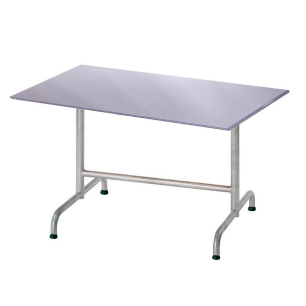 GFK Tisch Elegance platingrau matt 120x80