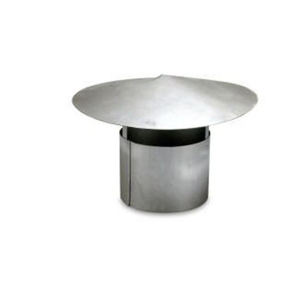 Regenhaube zu Abgasrohr, Stahlblech verzinkt, D 120 mm