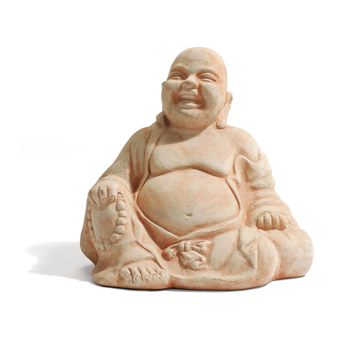 Buddha, en terre cuite, marron, 350 x 270 x 350 mm, 10 kg
