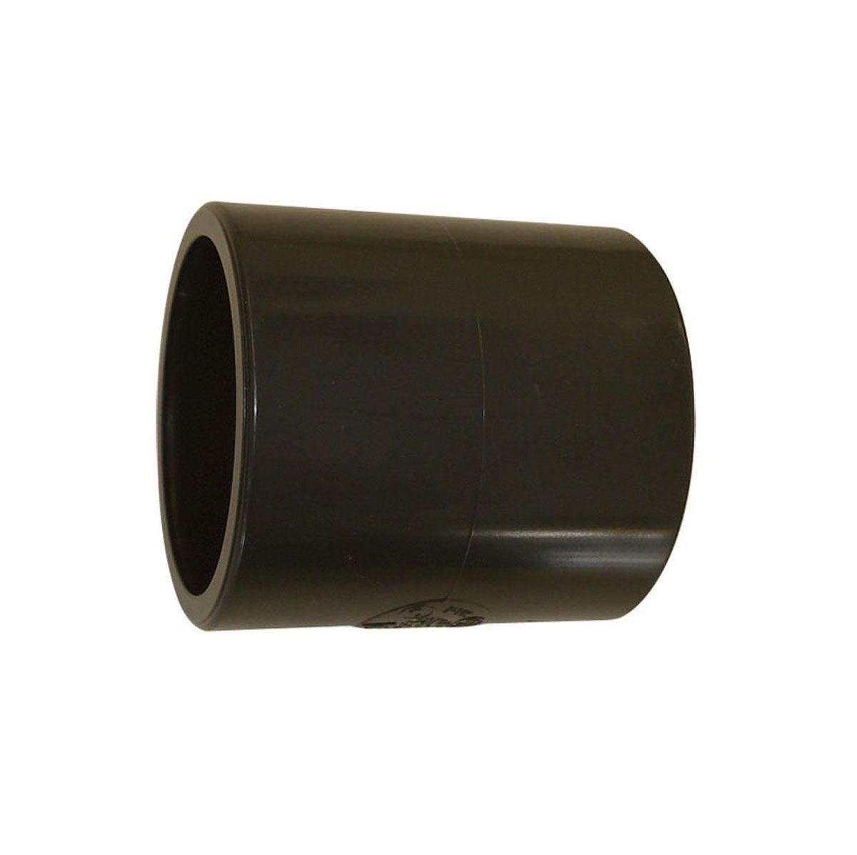 Doppelmuffe zum Kleben, aus PVC, grau, d 16 mm, PN 16