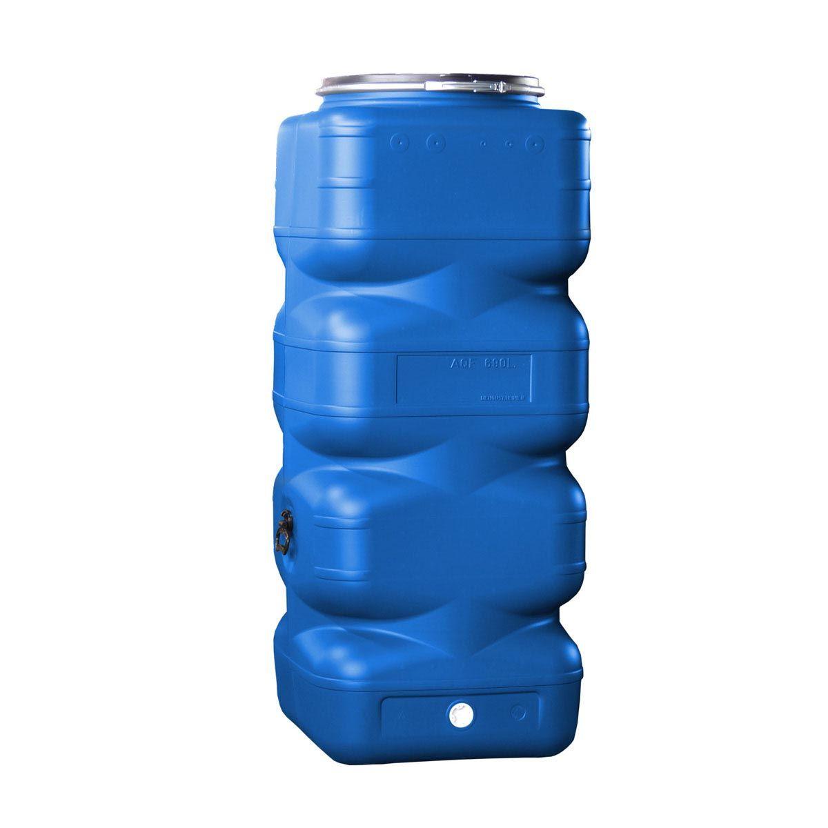 Lagertank AQF, aus PE-HD, blau, 690 l, 720 x 720 x 1695 mm