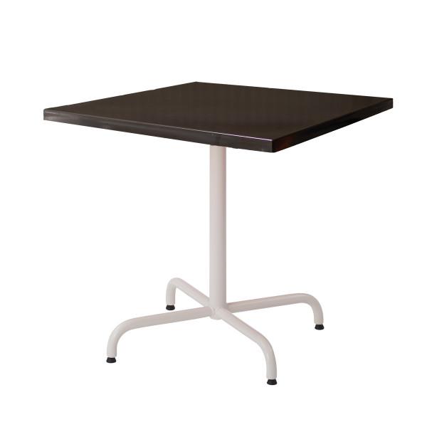 GFK Tisch graubraun 80x80