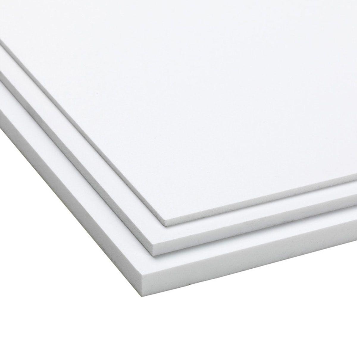 Plaque en PVC, en PVC, expansée, blanche, 3050 x 2050 x 3 mm