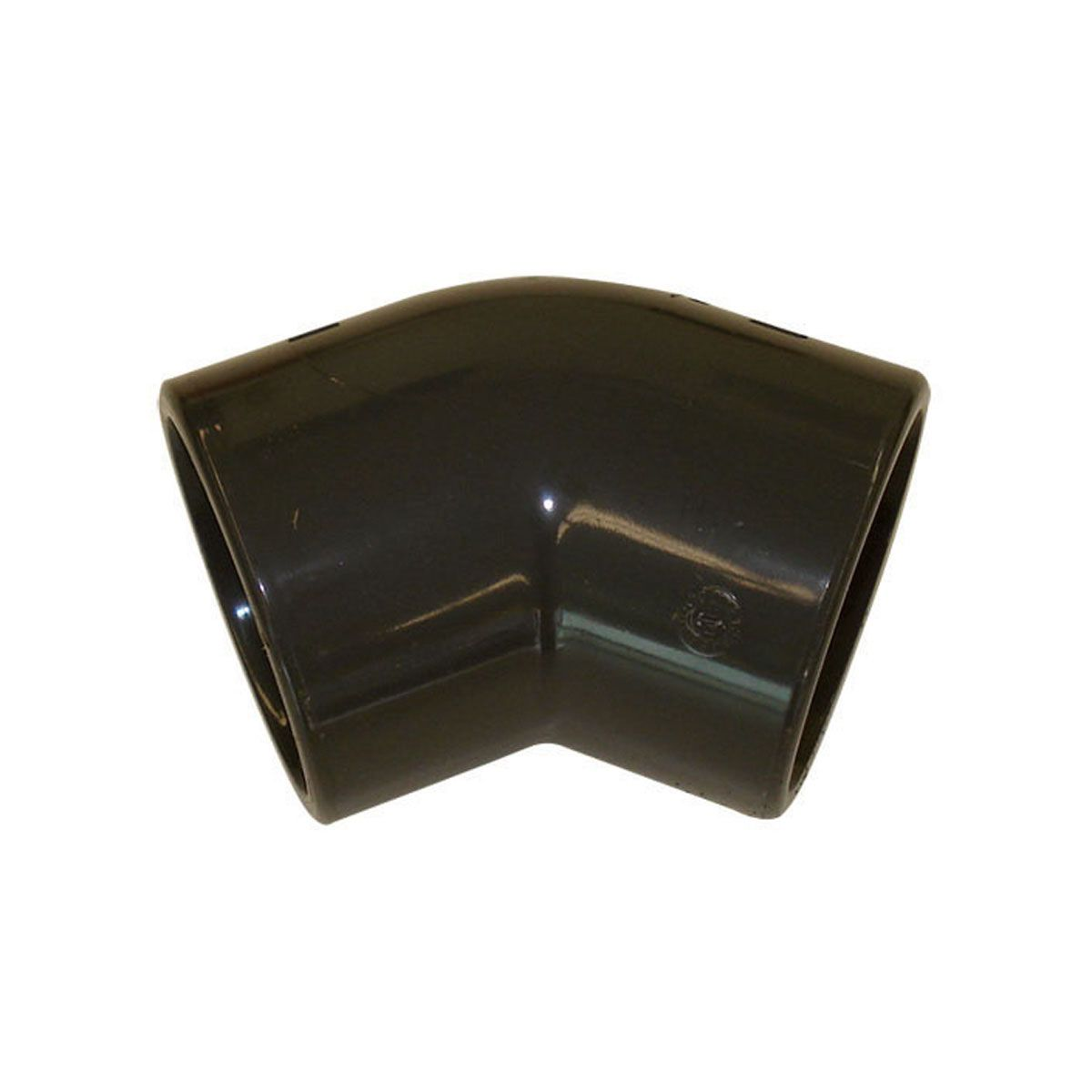 Winkel 45° zum Kleben, aus PVC, grau, d 16 mm, PN 16