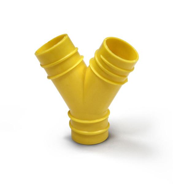 Y-Verteiler VQuick, aus PVC, gelb oder schwarz,