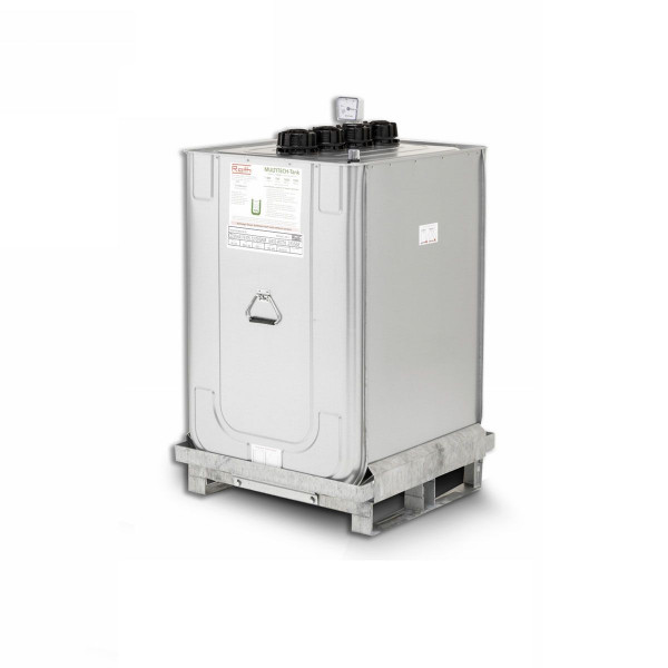 Mobiler Heizöltank Multitech, Metall/Kunststoff, doppelwandig, 400 l, 740  x 740 x 1170 mm, 63 kg