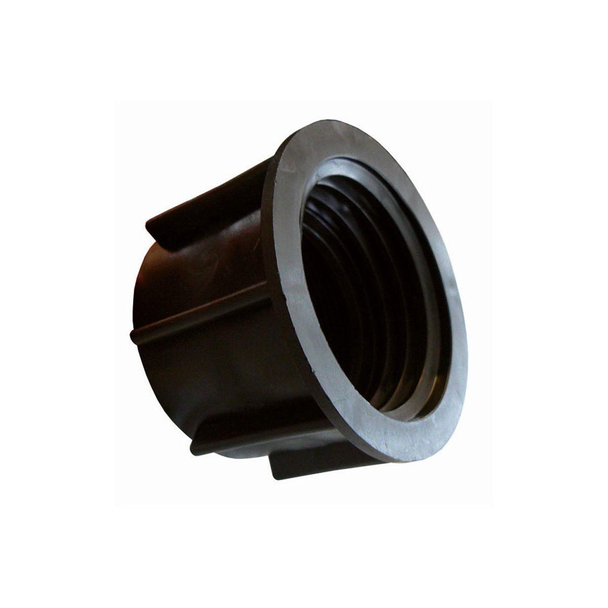 Adapter zu IBC Container, aus Kunststoff, schwarz, S60 x 6 IG -  IG 2'