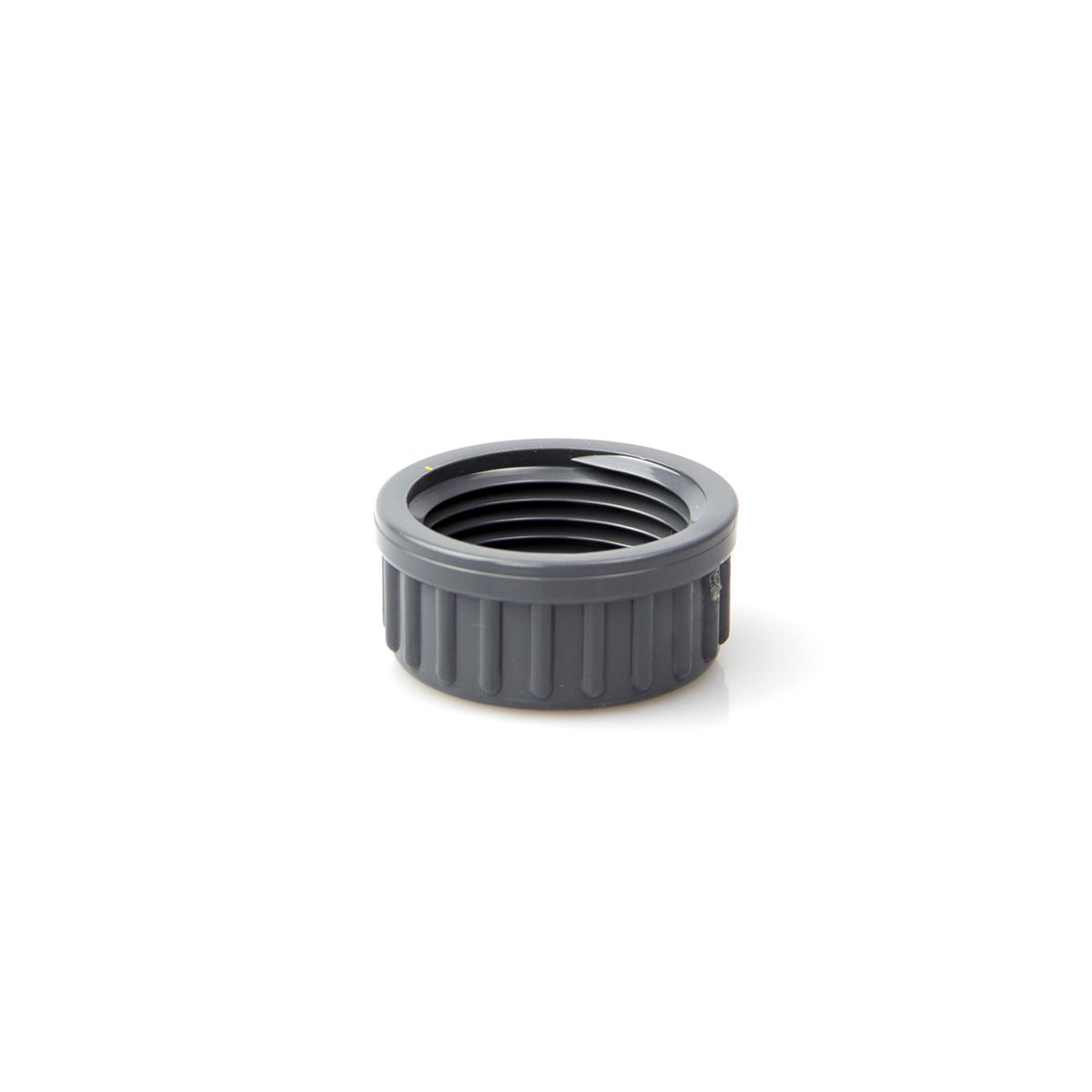 Endkappe mit Gewinde, aus PVC, grau, 3/8' IG, PN 16
