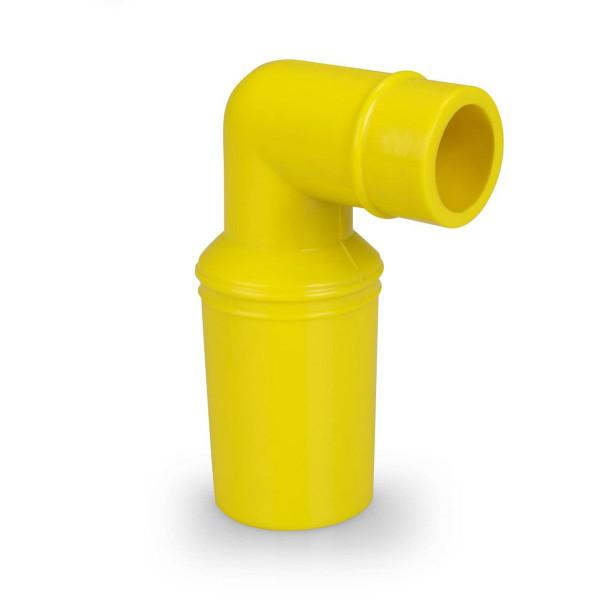 Lufteinflutwinkelstutzen VQuick, zu 38 mm Schlauch, gelb oder schwarz,