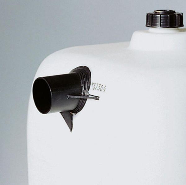 Rohrstutzen, aus PE, schwarz, D 40 mm, DN 32