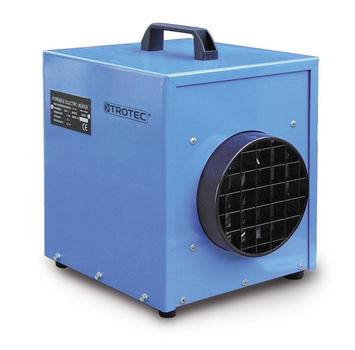 Chauffage électrique professionnel, TDE 25, blanc/gris, 230 V, 3 kW, 250 m3/h