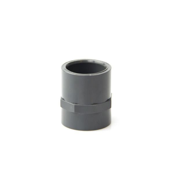 Muffe Kleben/Gewinde IG, aus PVC, grau, d 20 mm, 1/2', PN 16