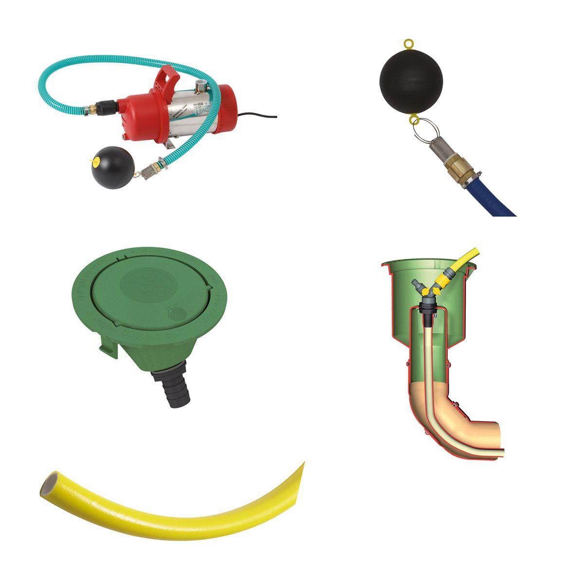 Kit pompe, pour installation de jardin, DN 100