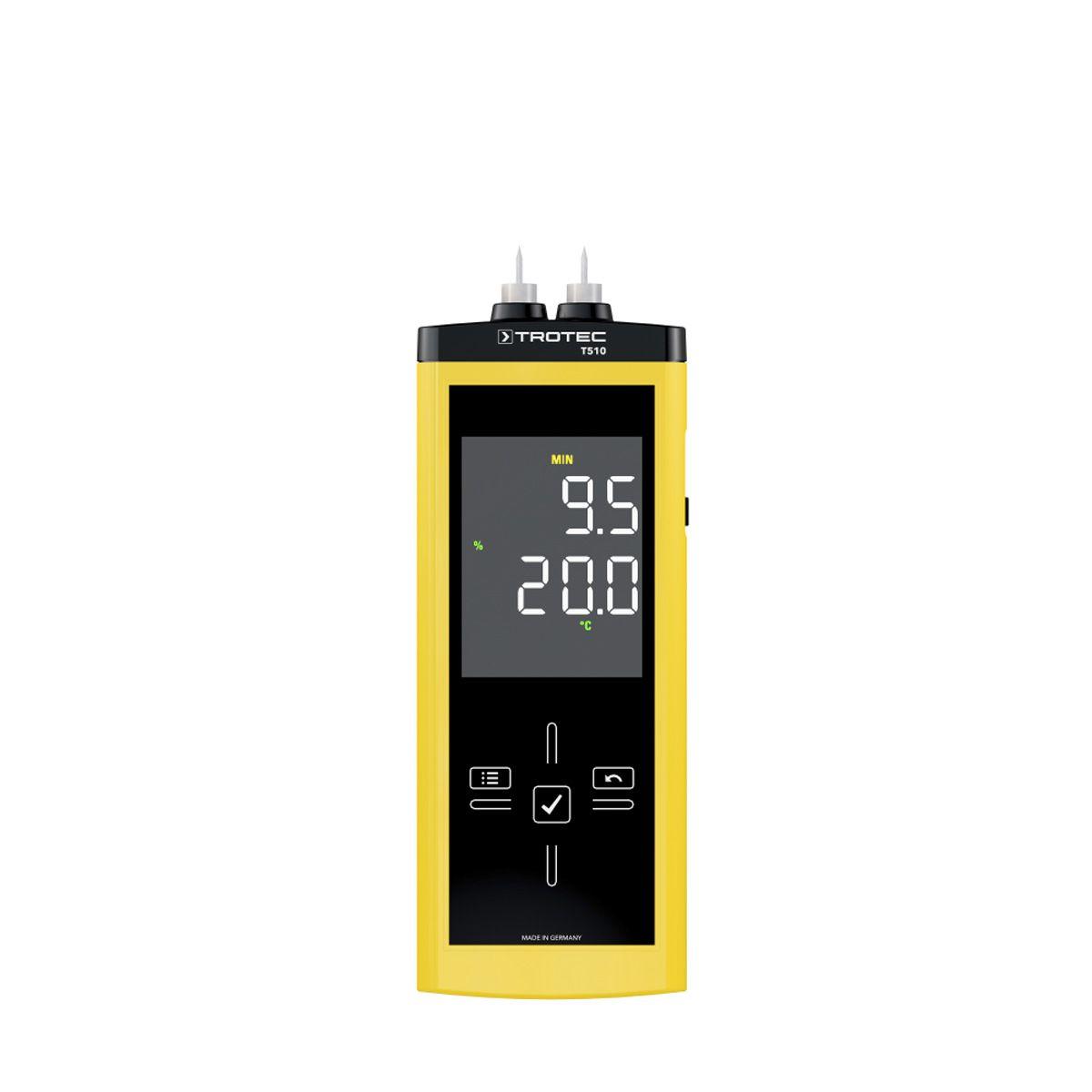 Feuchtemessgerät, T510, gelb/schwarz, 0-100 Digit, 0-100 % r.F.