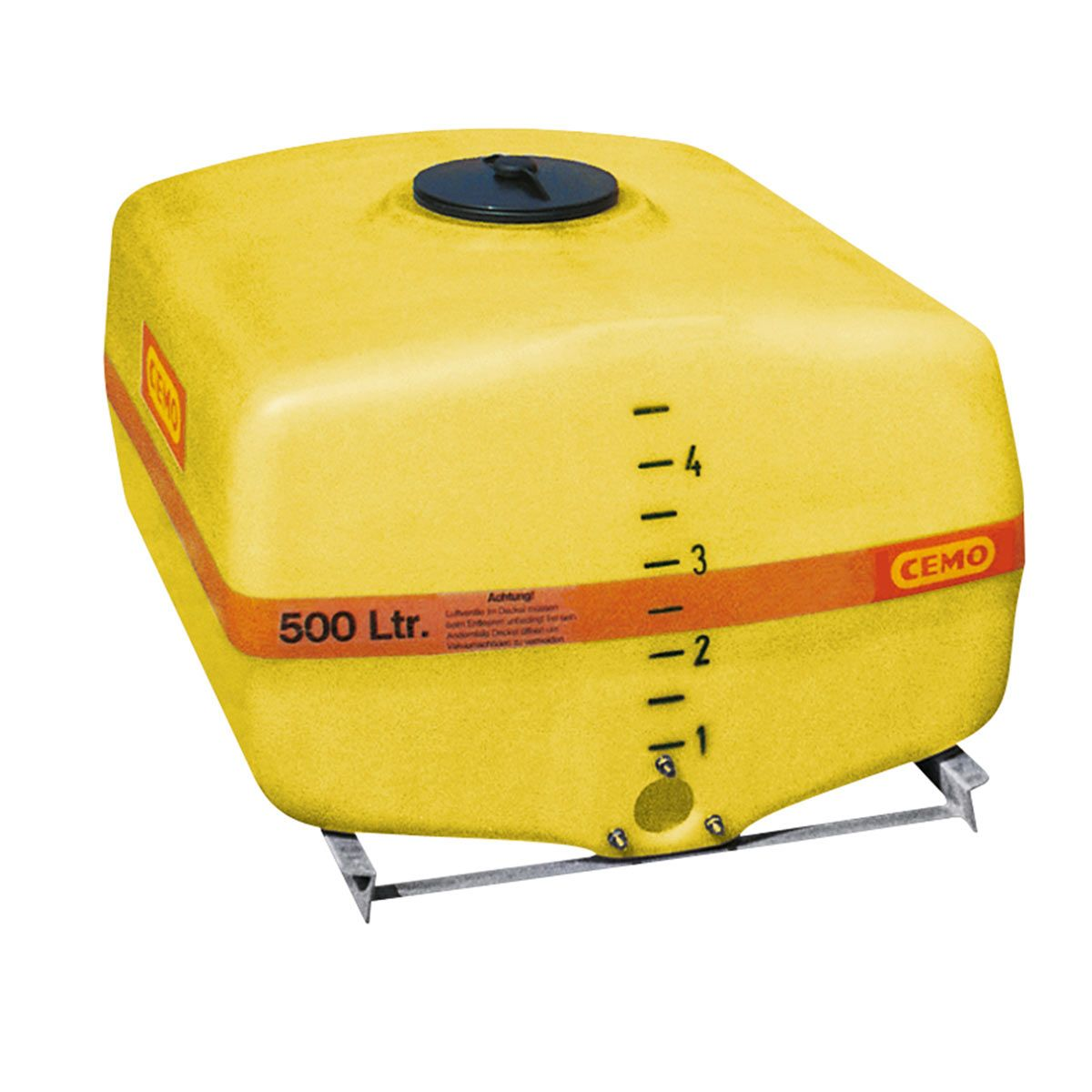 Fût de transport, en PRV, jaune, forme de caisson, 300 l, 1020 x 620 x 720 mm