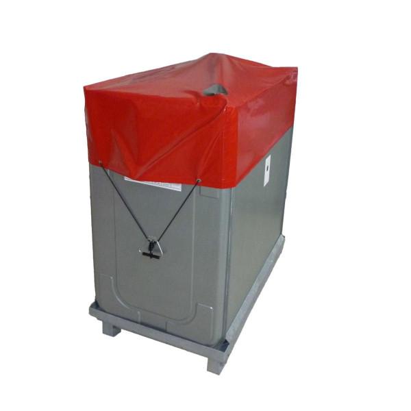Schutzhaube zu Multitech Heizöltank, zu 400 l, Kunststoffblache, rot,
