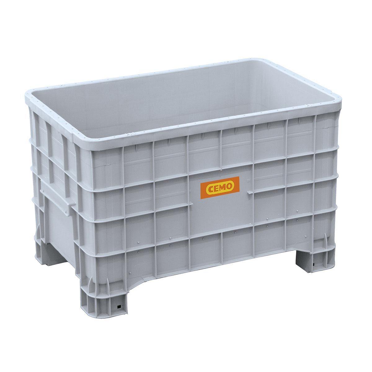 Logistikbox, aus PE, grau, 300 l, 1000 x 635 x 645 mm