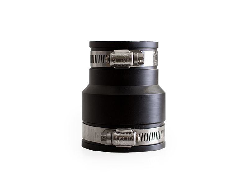 Flexible Reduziermuffe, aus PVC Elastomer, schwarz, 44 - 50 x 57 - 63 mm