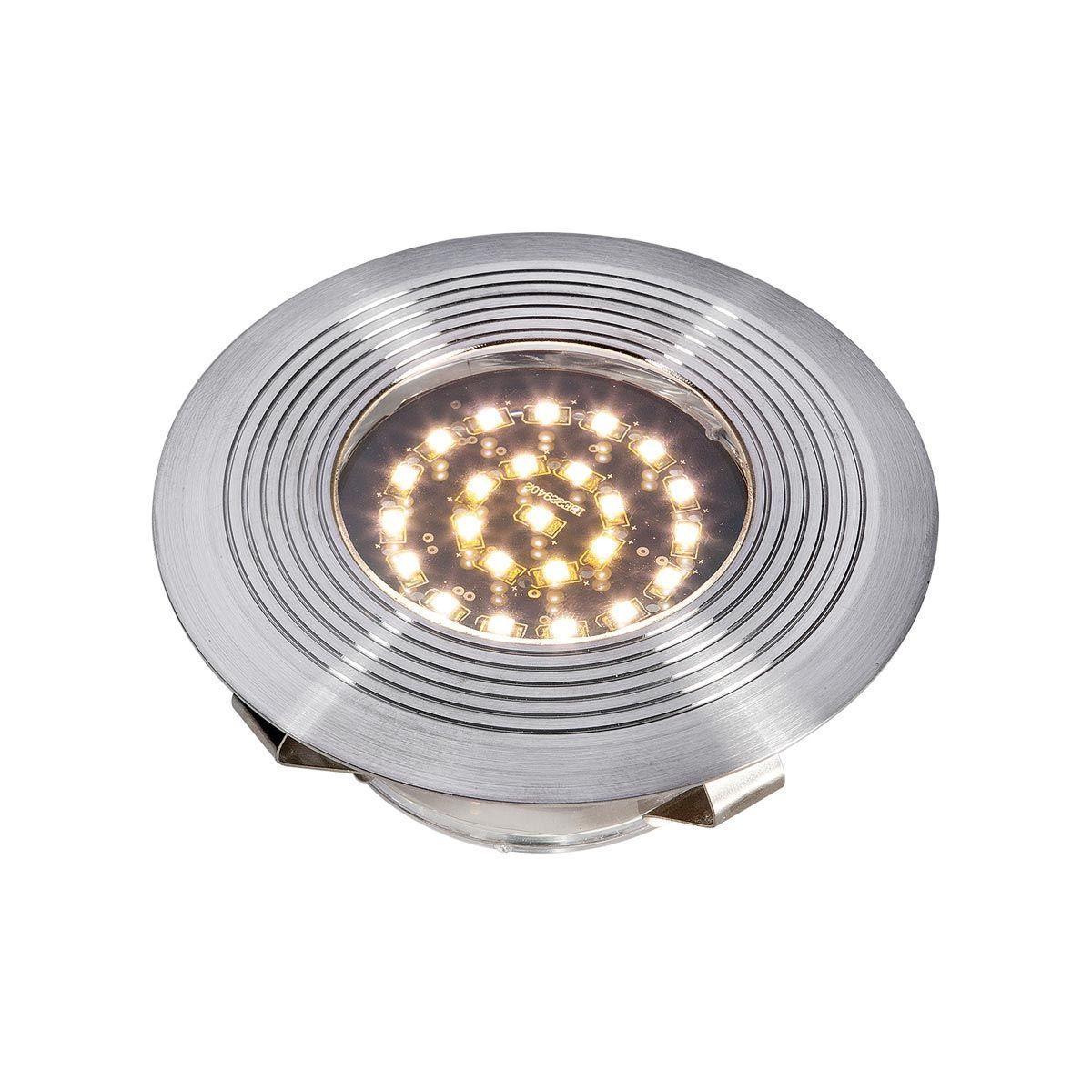 Einbauleuchte Mika R1, aus Edelstahl, 2 W LED, warm weiss, 12 V, 45 x 105 mm
