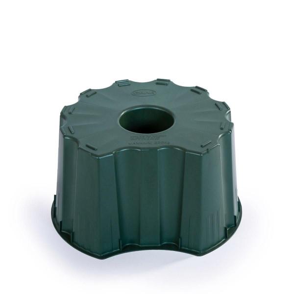 Unterstand, aus PP, grün, rund, 210 l, 600 x 600 x 330 mm