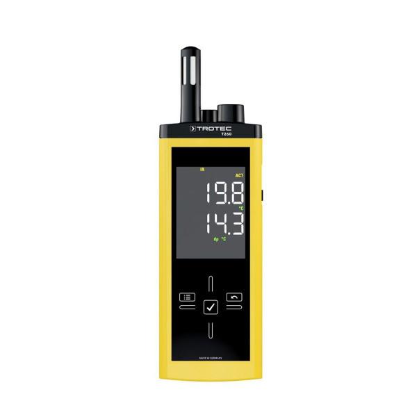 Infrarot-Thermohygrometer, T260, gelb/schwarz, -20-50°C, 0-100 % r.F.